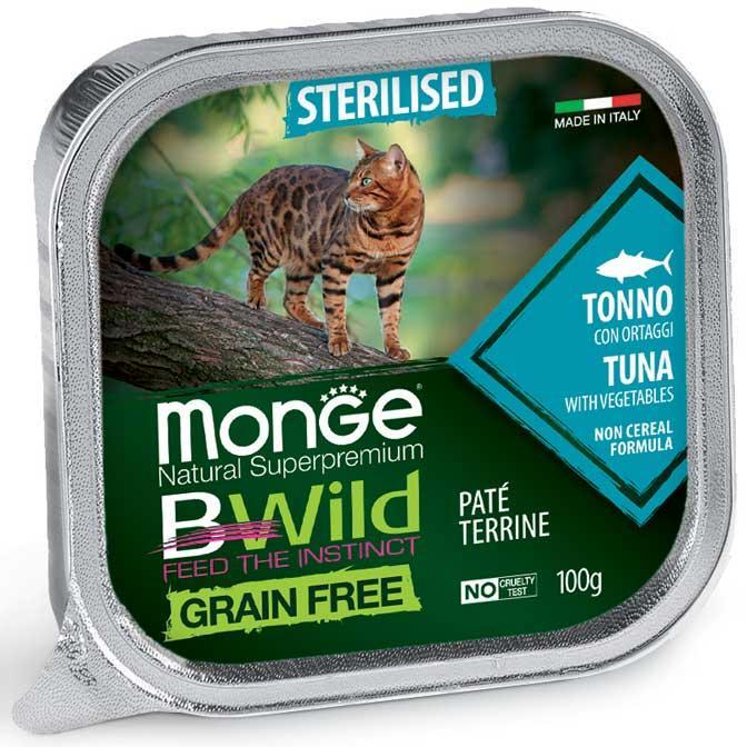 Gatto - Sterilised Tonno Bwild Monge Disponibile nei formati 85 - 100 gr