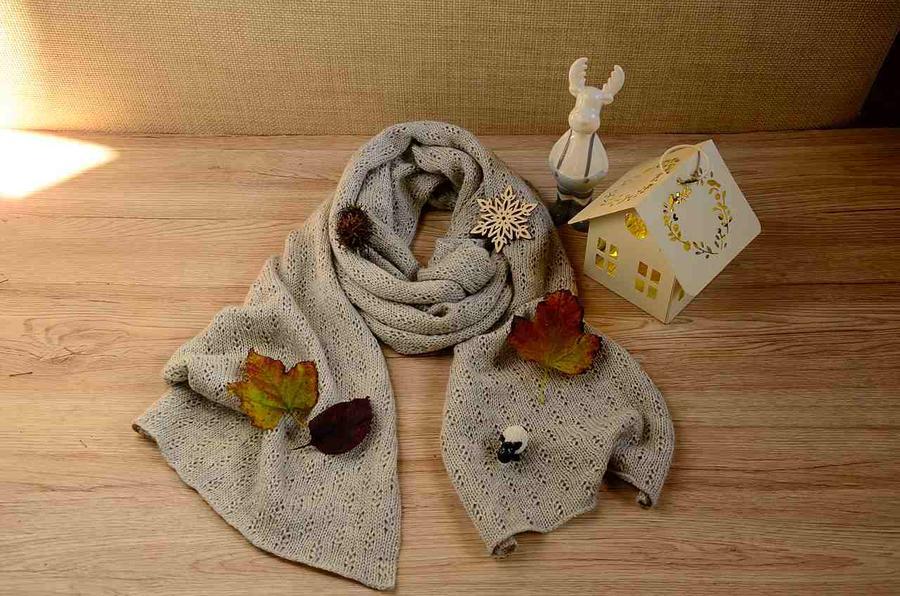 Sciarpa in alpaca seta cashmere non tinte, lavorazione made in Italy