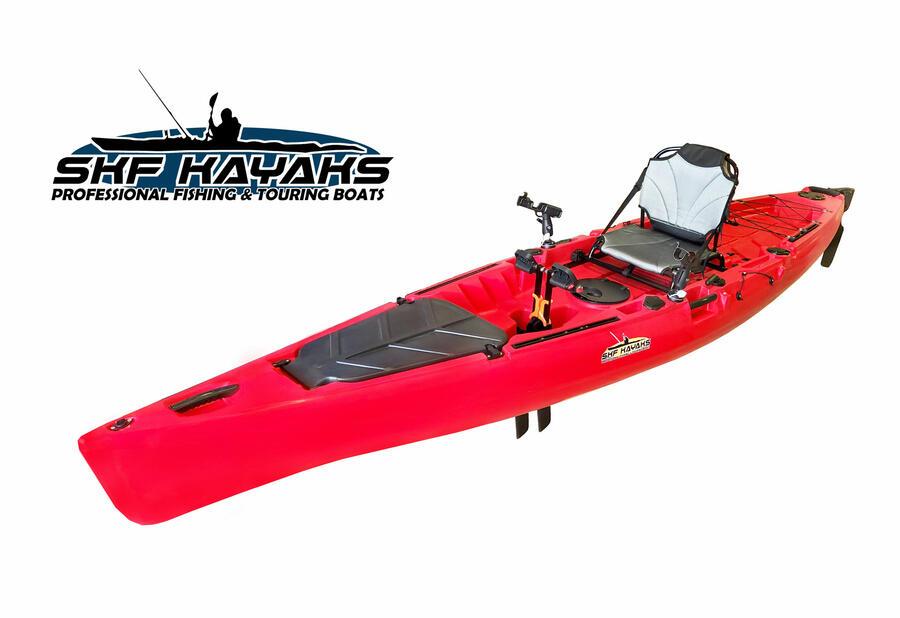 SKF K13 - Kayak da pesca a pedali - 420 cm - completo accessori