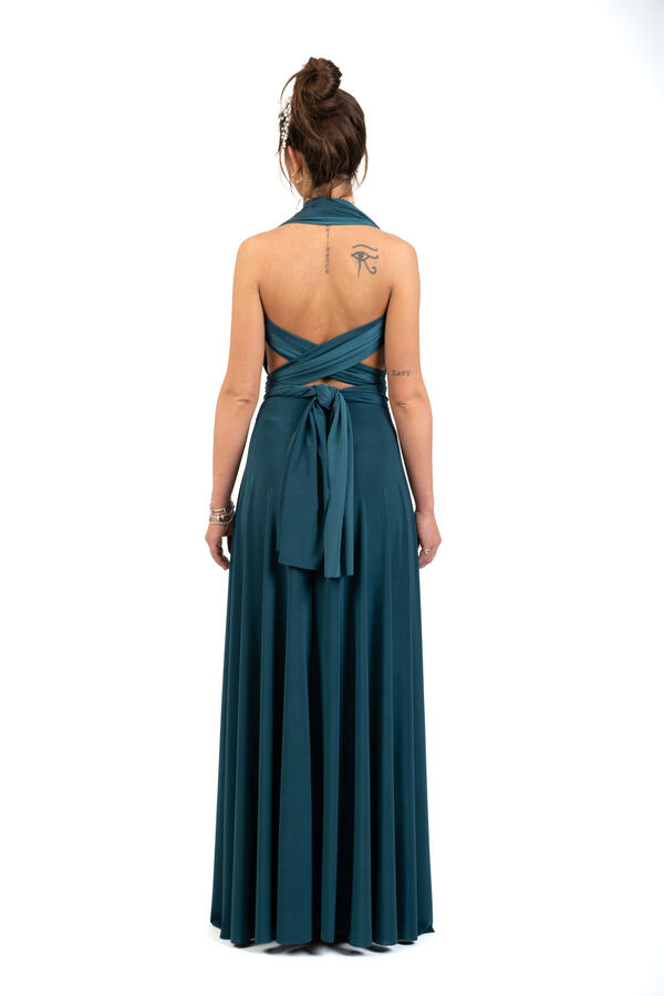 Infinity dress - abito lungo damigella infinite varianti per la scollatura