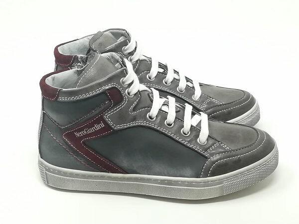 Sneaker Pelle Spazzolata - NERO GIARDINI Kids & Teens