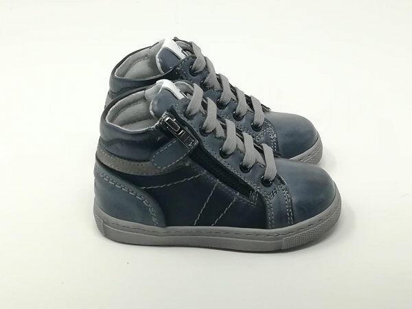 Baby Sneaker Pelle Blu/Fumo - NERO GIARDINI Kids & Teens