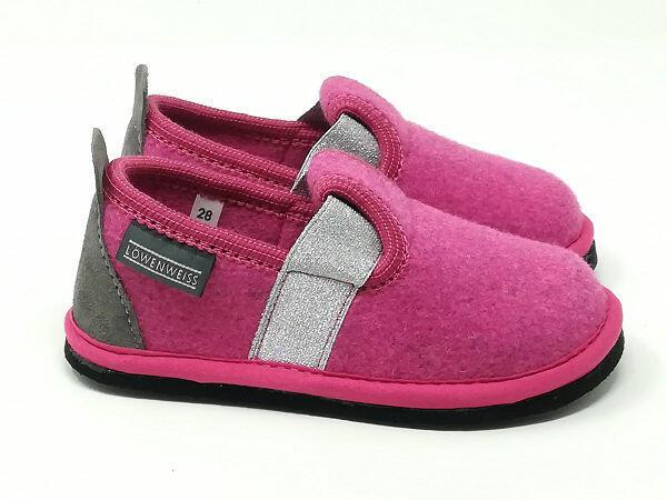 Pantofola Lana Fuxia - LÖWENWEISS