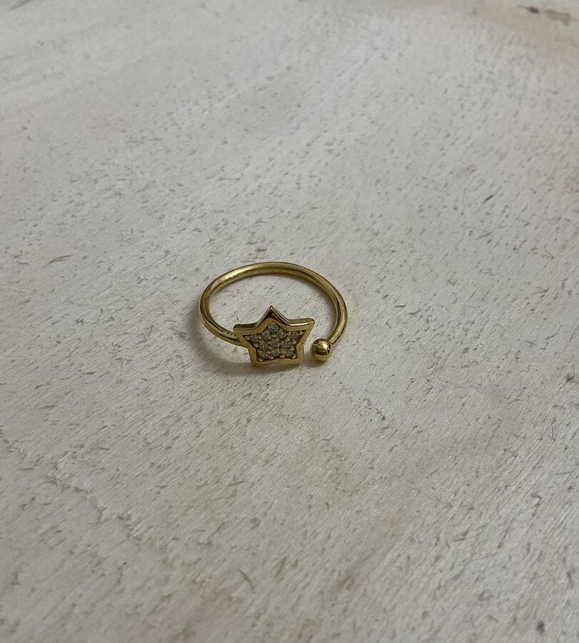 Anello stella zirconi