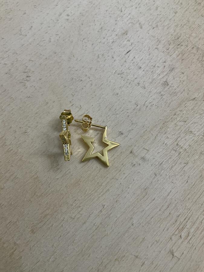 Orecchini perno stella zirconi