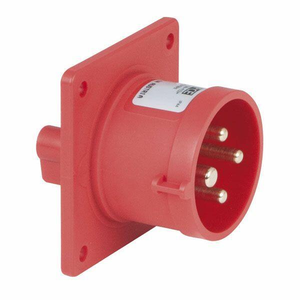 PCE CEE 16A 400V 4P SOCKET MALE Nero o Rosso, IP44