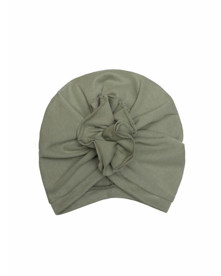 Berretto a turbante in cotone gots baby 4-12 mesi