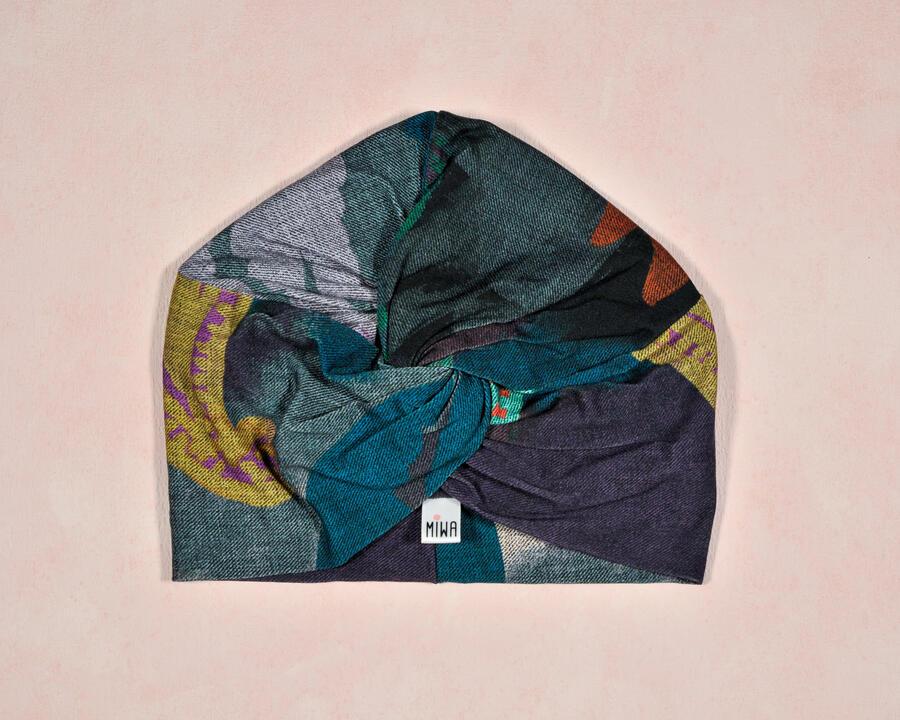 Turbante effetto Tie-Dye