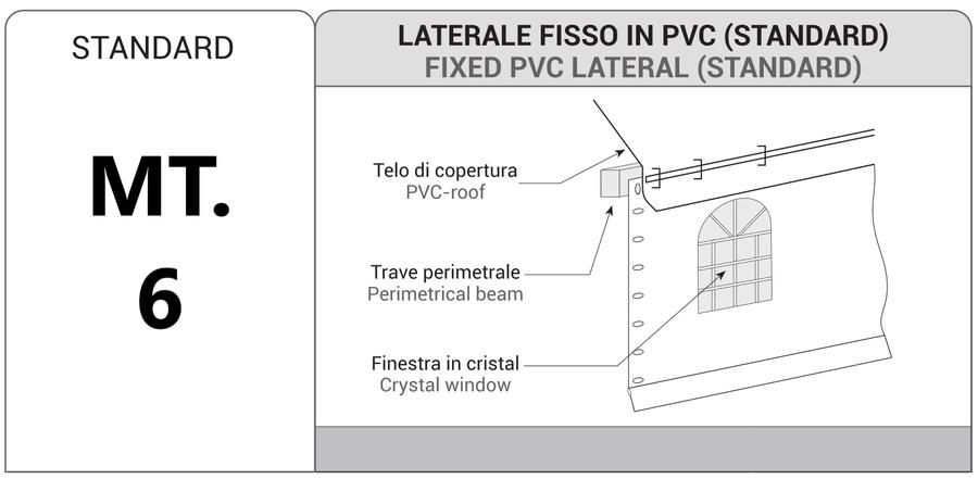 LATERALE FISSO IN PVC