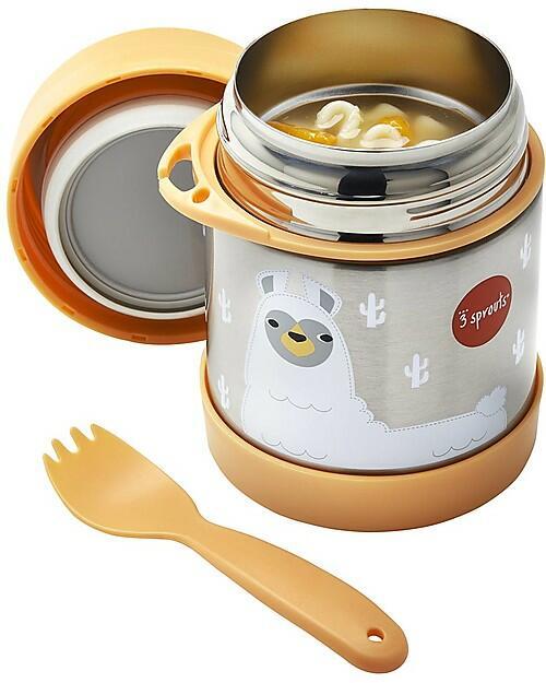 Thermos portacibo in acciaio inossidabile con cucchiaio/forchetta - 350ml