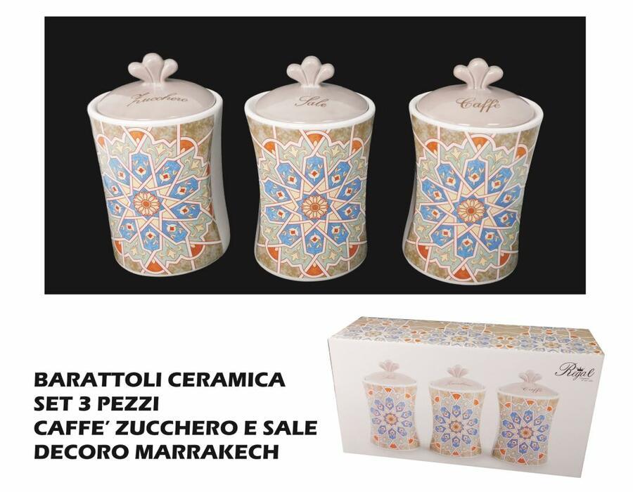 Tris barattoli di ceramica Marrakech