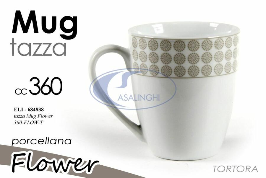 Tazza latte Flower