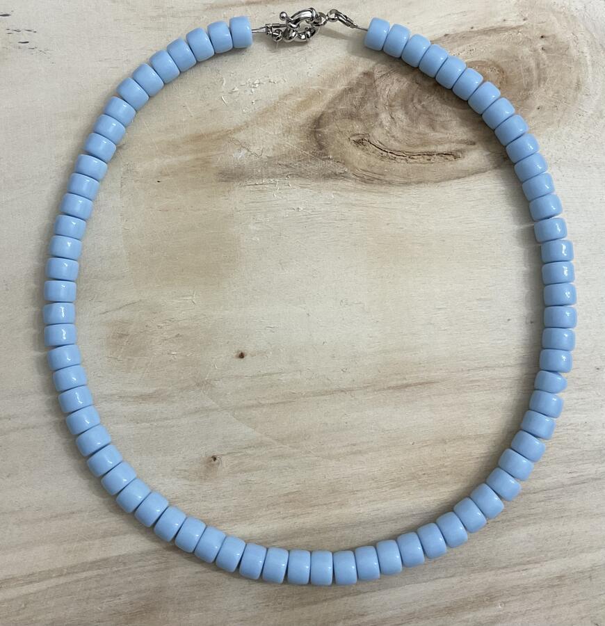 Collane trendy colorate con rondelle in vetro