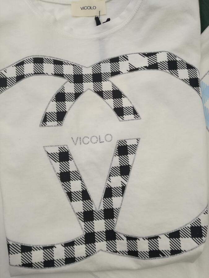 Vicolo T-shirt Logo Vichy