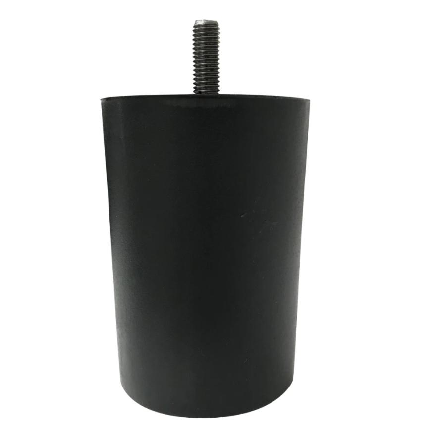 Piedini letto alti PVC colore NERO-BIANCO-GRIGIO-BEIGE H.10-14