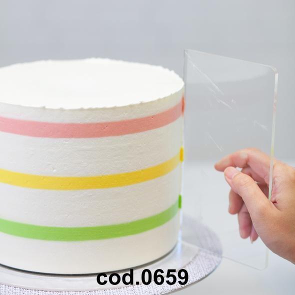 Rascietto/Spatola Plexiglass Bordo torta