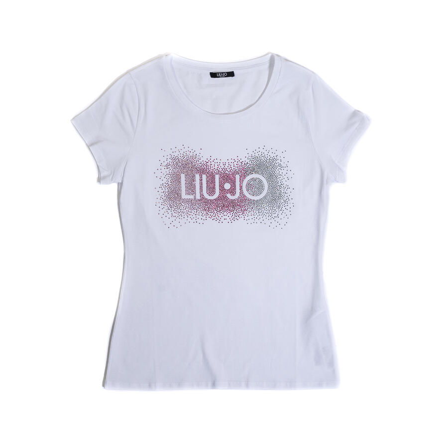 T-SHIRT LIU JO CON LOGO IN STRASS - Colori disponibili: 2