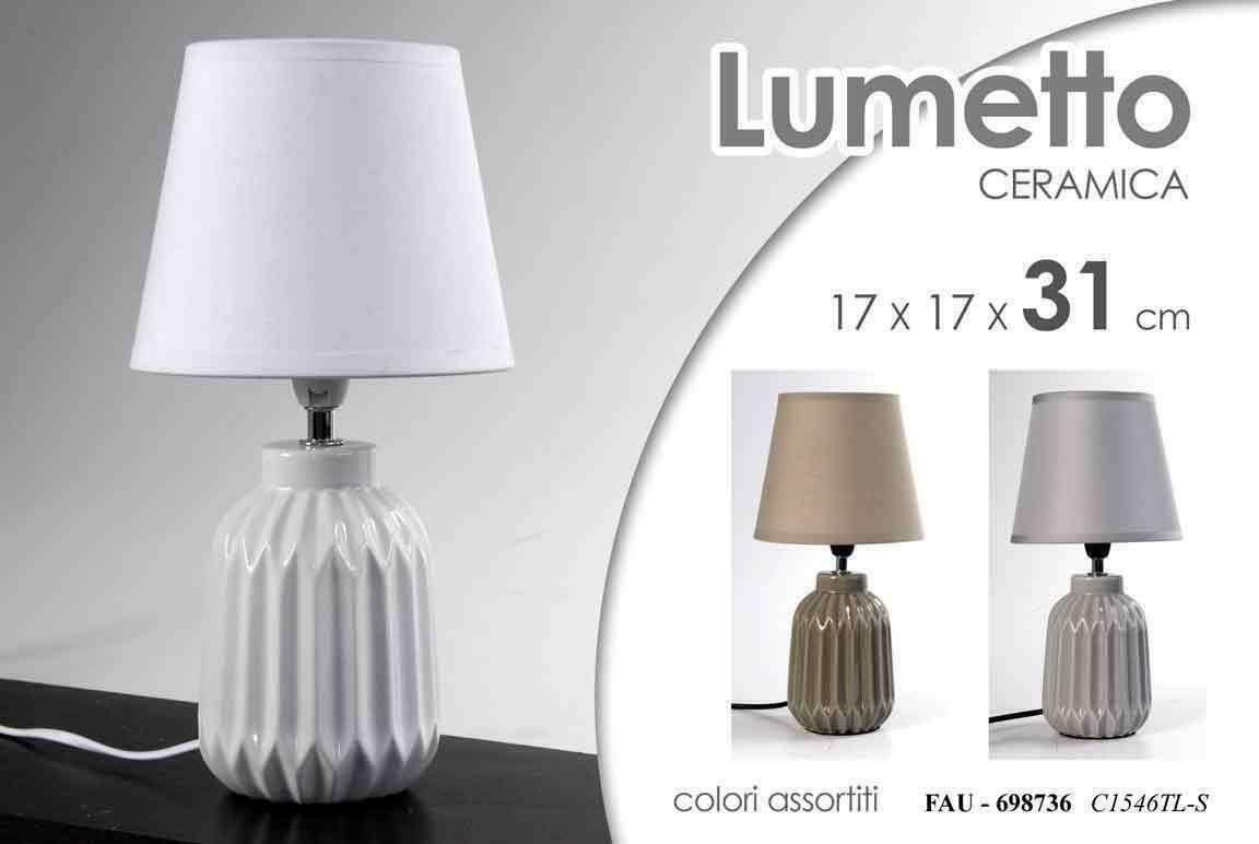 2 Lampade Lumetto Lumetti Lampada In Ceramica Pietra Alla Base Da Tavolo Comodino Camera Arredamento