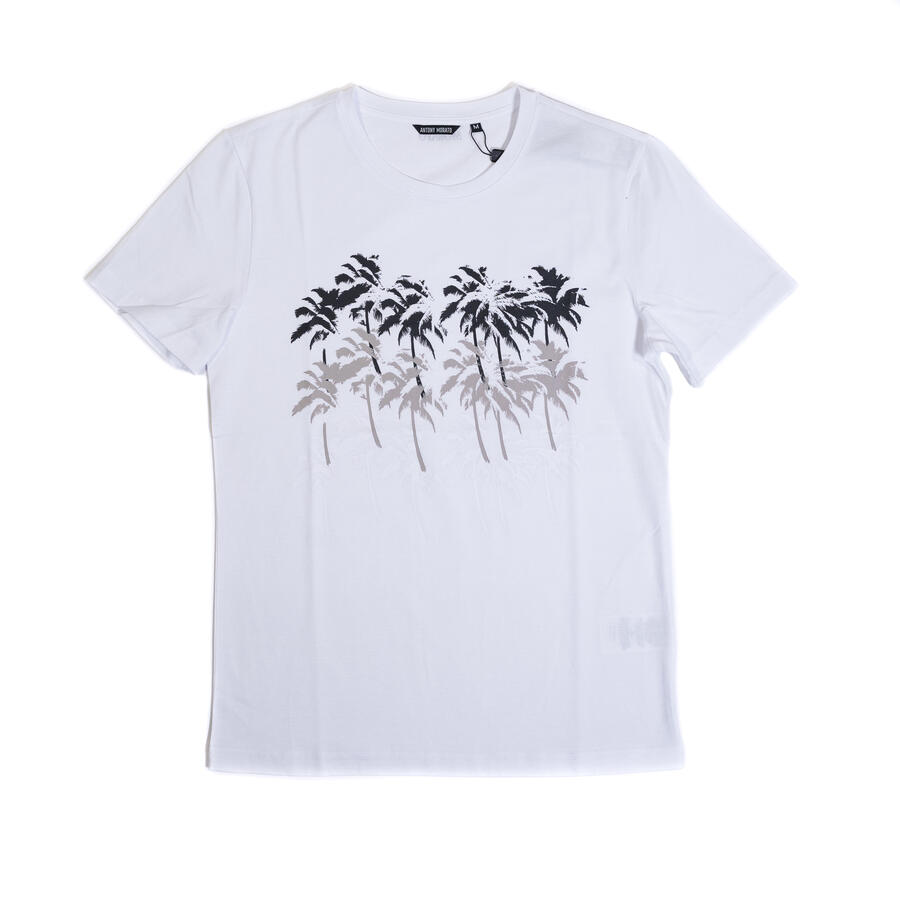 T-SHIRT ANTONY MORATO SLIM FIT IN COTONE CON STAMPA PALME - Colori disponibili: 2