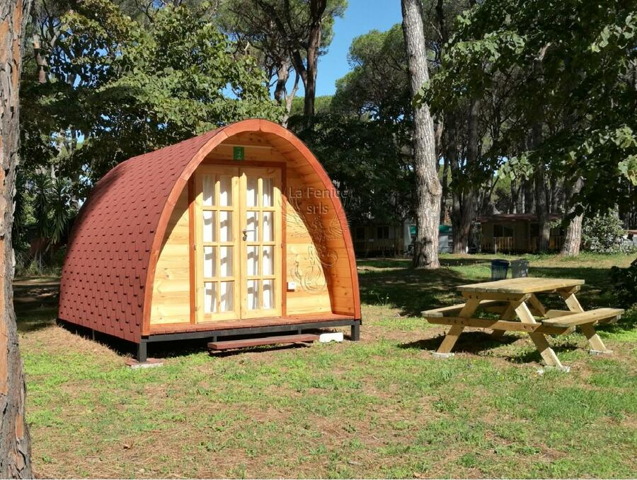 Camping Pod in legno di abete rosso nordico Mod. Sarah 4,00 x 3,00 - 44mm