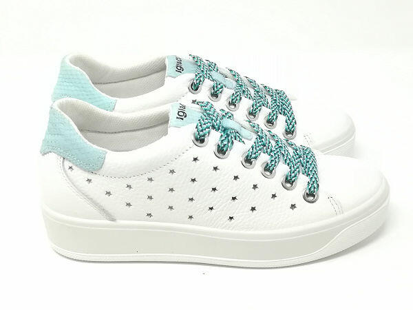 Sneaker Ava Fiore Azzurro - Igi&Co