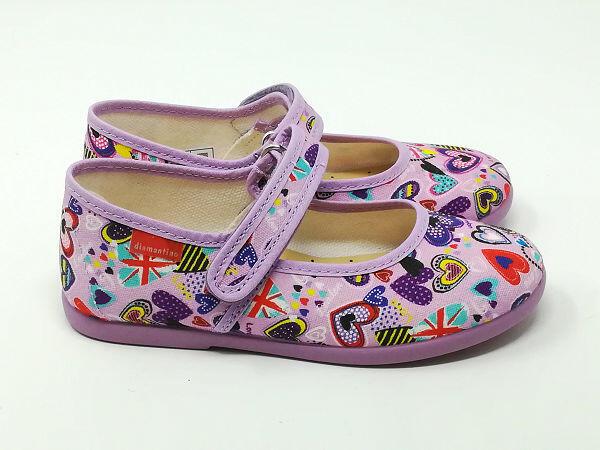 Pantofola Ballerina Cotone Lilla - DIAMANTINO