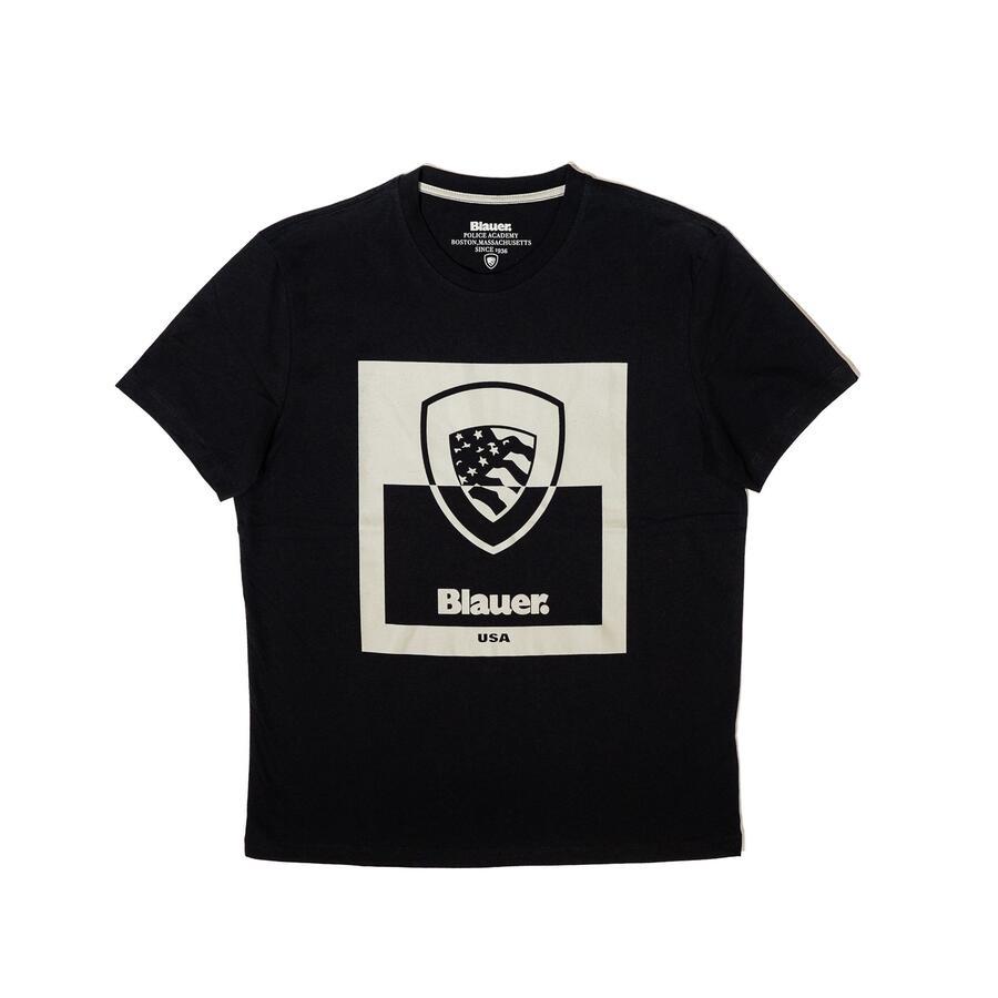 T-SHIRT BLAUER CON SCUDO BICOLOR - Colori disponibili: 3