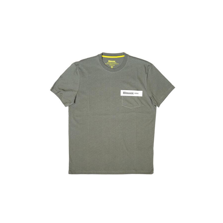 T-SHIRT BLAUER IN COTONE CON TASCHINO - Colori disponibili: 3