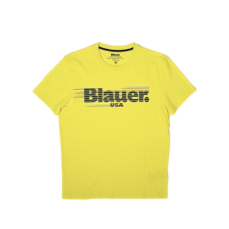 T-SHIRT BLAUER LOGO RIGATO MULTICOLOR - Colori disponibili: 3