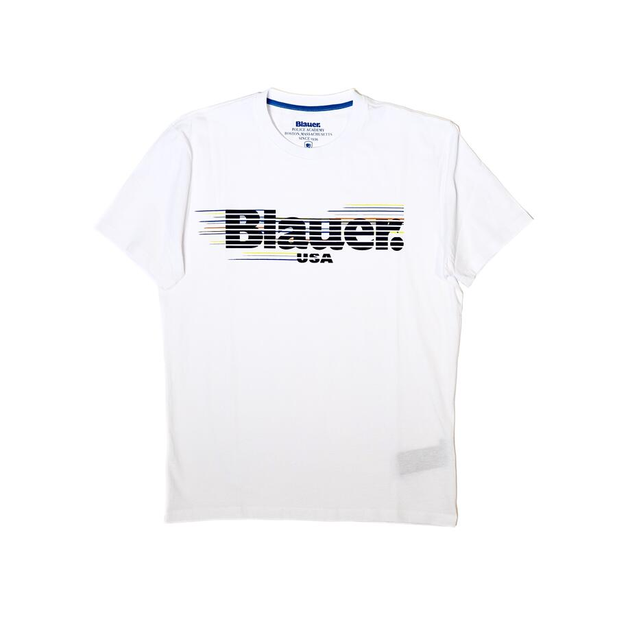 T-SHIRT BLAUER LOGO RIGATO MULTICOLOR - Colori disponibili: 2