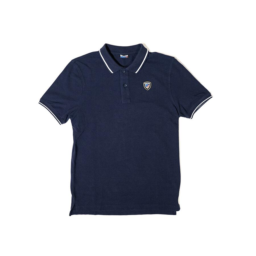 POLO PIQUET BLAUER CON COSTINA RIGATA - Colori disponibili: 3