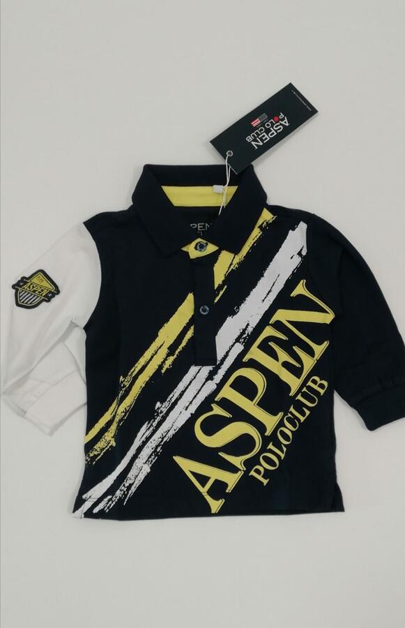 ASPEN POLO CLUB polo blu giallo