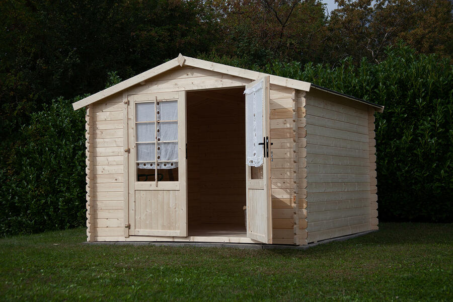 Casetta in legno 2,50 m x 2,50 m - Mod. Madrid - 28 mm - TRASPORTO INCLUSO