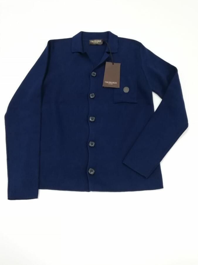 TRUSSARDI giacca cotone blu