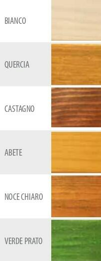 Casetta in legno impregnata in autoclave Like Luxury 246 x 200 - 19mm - Con pavimento - Trasporto incluso