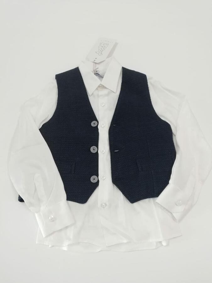 ANACAPRI camicia con gilet blu