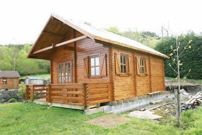 Casetta in legno Mod. Diletta 4,50 m x 7,40 m - 44 mm. - Soppalco e Veranda INCLUSI