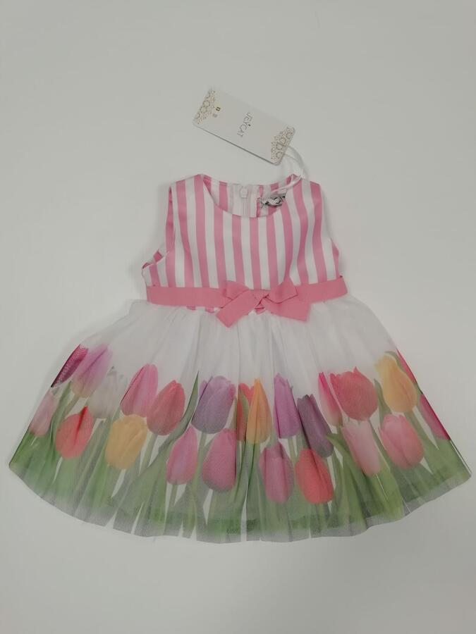 Jeycat vestito tulipani 9 mesi