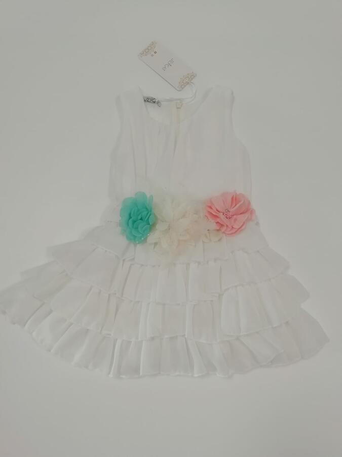 JEYCAT Vestito bianco con fiori