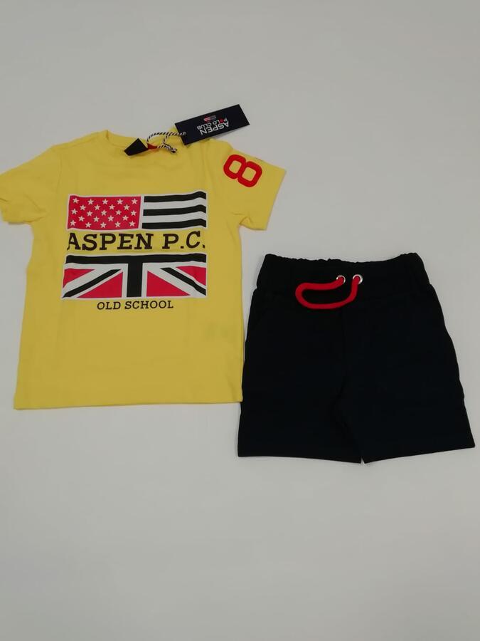 ASPEN POLO CLUB Completo giallo blu