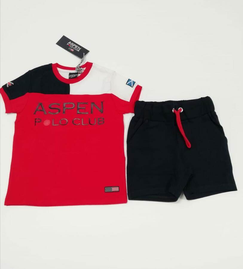 ASPEN POLO CLUB Completo rosso blu