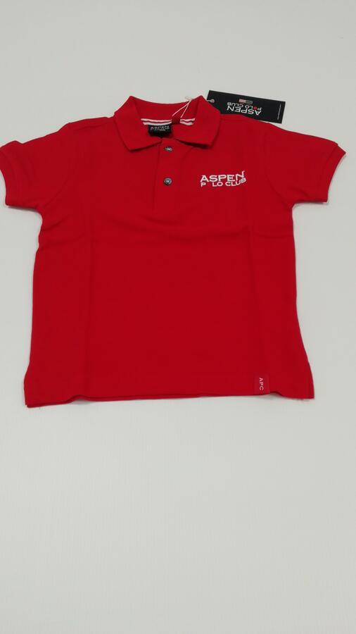 ASPEN POLO CLUB Polo rossa due bottoni