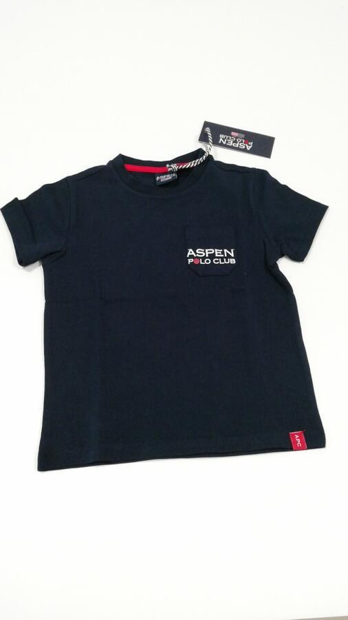 ASPEN POLO CLUB maglietta blu