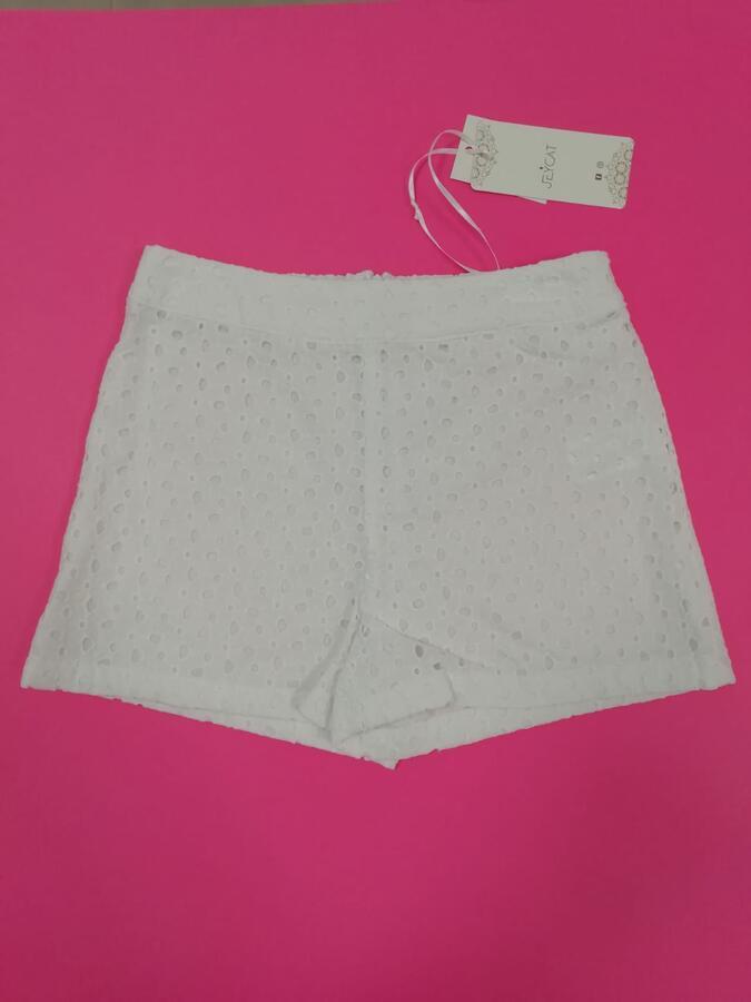 JEYCAT shorts pizzo Sangallo