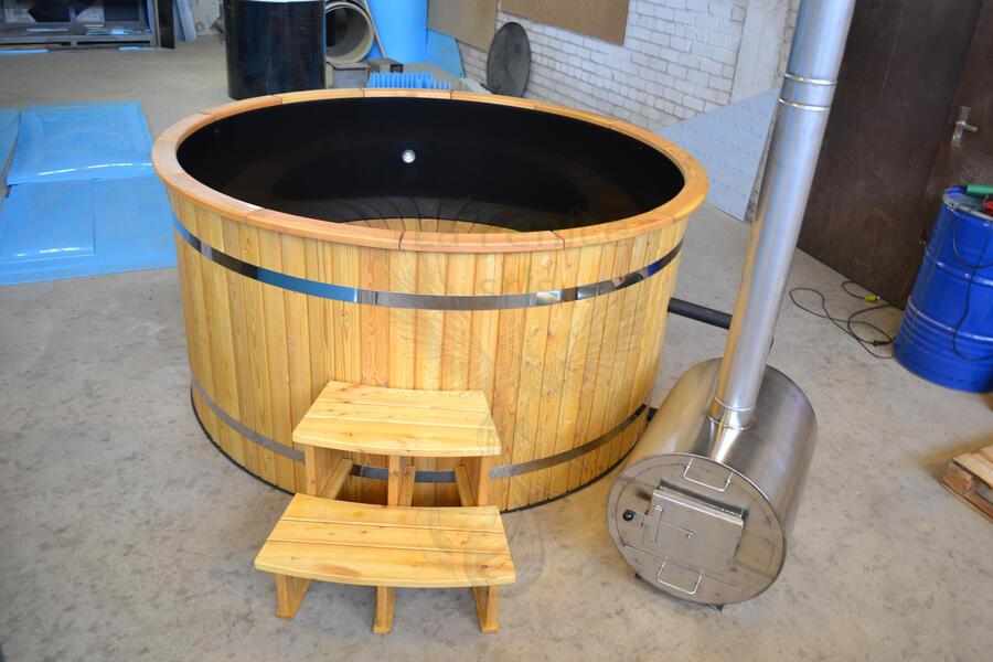 Glamping Hot Tub in Larice nordico Mod. Emy Ø 2,2 m - Riscaldatore esterno Incluso