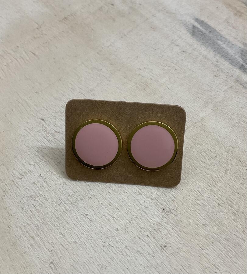 Orecchini bottone tondi mini