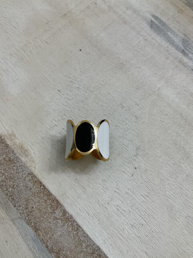 Anello ovali bicolore