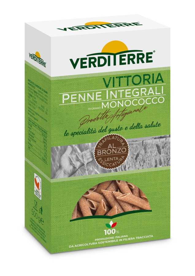 Penne rigate integrali di grano monococco 500 gr