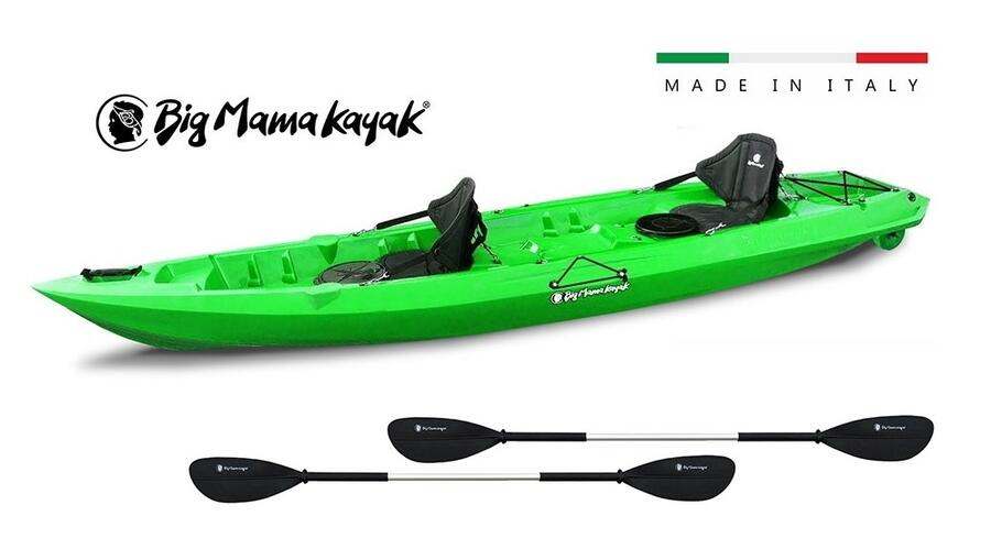 Mojito Big Mama Kayak - 2 + 1 Posti 380 Cm + 2 Gavoni + 2 ruote integrate