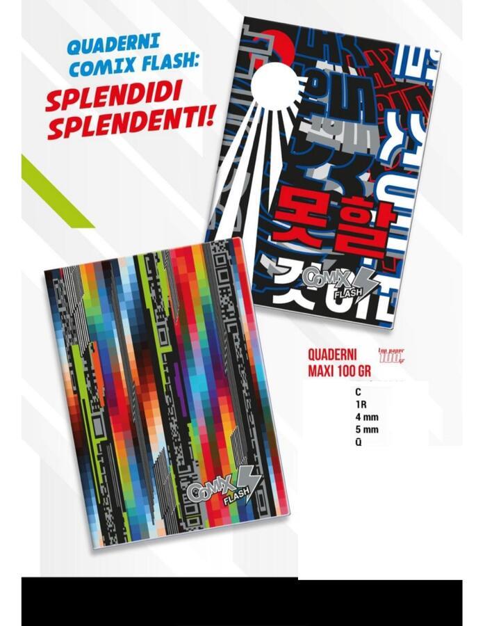 COMIX FLASH COLLEZIONE 2021/22 MAX QUADERNI 100 GR A4 - SCEGLI LA RIGATURA